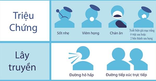 Cách nhận biết bệnh bạch hầu