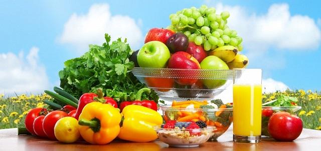 Ăn nhiều trái cây và rau củ quả tươi giàu kiềm